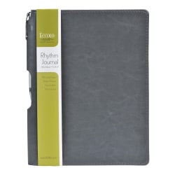 """Eccolo™ Rhythm Journal, 8"""" x 10"""", Lined, 192 Pages, Gray"""
