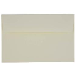 "JAM Paper® Booklet Invitation Envelopes, A9, 5 3/4"" x 8 3/4"", Strathmore Natural White, Pack Of 25"