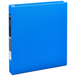 """Office Depot® Brand Heavy-Duty 3-Ring Binder, 1"""" D-Rings, 49% Recycled, Blue"""