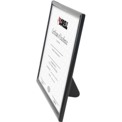 "Lorell U-channel Frame - 10"" x 8"" Frame Size - Rectangle - Desktop - Horizontal, Vertical - 1 Each - Black"