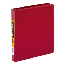 "Office Depot® Brand Heavy-Duty D-Ring Binder, 1"" Rings, 59% Recycled, Dark Red"