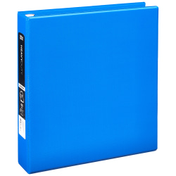 "[IN]PLACE® Heavy-Duty 3-Ring Binder, 1 1/2"" D-Rings, Blue"
