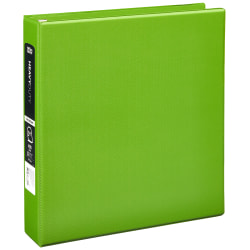 "[IN]PLACE® Heavy-Duty 3-Ring Binder, 1 1/2"" D-Rings, Army Green"