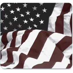 "Allsop US Flag Mouse Pad - American Flag - 0.1"" x 8.5"" x 8"" Dimension - Rubber Base, Natural Rubber Base, Cloth Top"