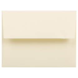 "JAM Paper® Booklet Invitation Envelopes, A2, 4 3/8"" x 5 3/4"", Strathmore Ivory, Pack Of 25"