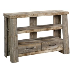 """Sauder® Boone Mountain Anywhere Console Table, 32-3/8""""H x 49-1/4""""W x 17""""D, Rustic Cedar"""