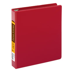 """Office Depot® Brand Heavy-Duty D-Ring Binder, 1 1/2"""" Rings, 59% Recycled, Dark Red"""