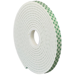 """3M™ 4004 Double-Sided Foam Tape, 3"""" Core, 1"""" x 5 Yd., Natural"""