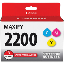 Canon PGI-2200 CMY Original Ink Cartridge - Inkjet - Standard Yield - 700 Pages (Per Cartridge) - Cyan, Magenta, Yellow - 3 / Pack