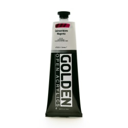 Golden OPEN Acrylic Paint, 5 Oz Tube, Quinacridone Magenta