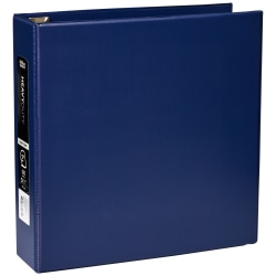 """Office Depot® Brand Heavy-Duty 3-Ring Binder, 2"""" D-Rings, 49% Recycled, Navy"""
