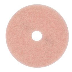"3M™ 3600 Eraser Burnish Pads, 17"" Diameter, Pink, Box Of 5"