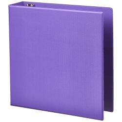 "Office Depot® Heavy-Duty Easy-Open 3-Ring Binder, 2"" D-Rings, 49% Recycled, Purple"