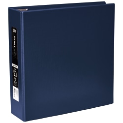 """Office Depot® Heavy-Duty 3-Ring Binder, 3"""" D-Rings, 49% Recycled, Navy"""