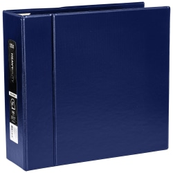 """Office Depot® Brand Heavy-Duty 3-Ring Binder, 4"""" D-Rings, 49% Recycled, Navy"""