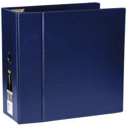 """[IN]PLACE® Heavy-Duty D-Ring Binder, 5"""" Rings, Navy"""