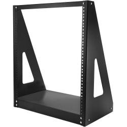 "StarTech.com Heavy Duty 2-Post Rack - Open-Frame Server Rack - 12U - For A/V Equipment, Server, Patch Panel, LAN Switch - 12U Rack Height x 19"" Rack Width - Floor Standing, Tabletop - Black - Steel - 352.74 lb Maximum Weight Capacity - TAA Compliant"