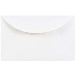 """JAM Paper® Booklet Mini Envelopes, 3 Drug, 2 5/16"""" x 3 5/8"""", White, Pack Of 25"""