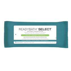 """ReadyBath SELECT Medium-Weight Cleansing Washcloths, Scented, 8"""" x 8"""", White, 8 Washcloths Per Pack, Case Of 30 packs"""