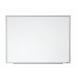 """3M™ Porcelain Magnetic Dry-Erase Whiteboard, 96"""" x 48"""", Aluminum Frame With Silver Finish"""