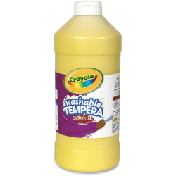Crayola Washable Tempera Paint - 2 lb - 1 Each - Yellow