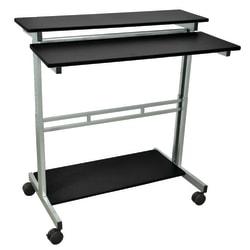 "Luxor 39 1/2""W Standup Desk, Black/Gray"