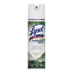 Lysol® Disinfectant Spray, Adirondack Cool Air Scent, 19 Oz Bottle