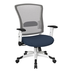 Office Star™ Space Seating Mesh Mid-Back Chair, Blue Galaxy/White