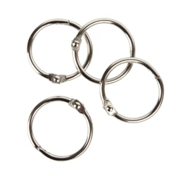 """Office Depot® Brand Binder Rings, 1"""", Silver, Pack Of 100"""