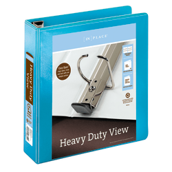 """Office Depot® Brand Heavy-Duty D-Ring View Binder, 2"""" Rings, Teal"""