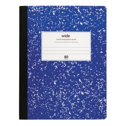 "Office Depot® Marble Composition Book, 7 1/2"" x 9 3/4"", Wide Ruled, 160 Pages (80 Sheets), Blue"