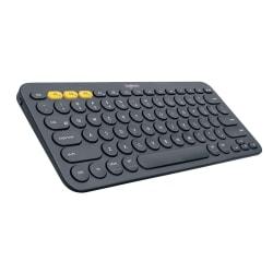 Logitech® K380 Multi-Device Wireless Keyboard, Compact, Black, 920-007558
