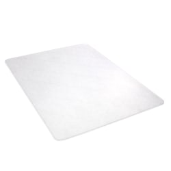 "Deflect-O Earth Source® Chair Mat For Hard Floors, Straight Edge, 46"" x 60"", Clear"