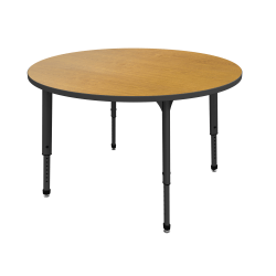 Marco Group™ Apex™ Series Adjustable Height Round Table, Solar Oak/Black