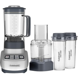 Cuisinart VELOCITY Ultra Trio 1 HP Blender/Food Processor with Travel Cups - 1.75 quart (Capacity) - 650 W Motor - Clear, Gray