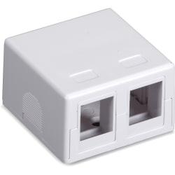 Black Box Value Line Surface-Mount Housing, 2-Port, White - White