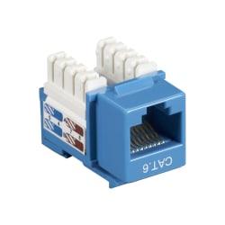 Black Box CAT6 Value Line Keystone Jack, Blue - 1 x RJ-45 Female - Blue
