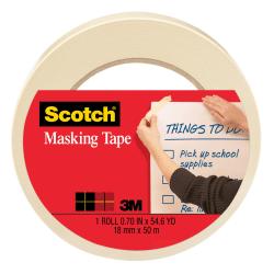 "Scotch® Masking Tape, 3/4"" x 60 Yd., Natural"