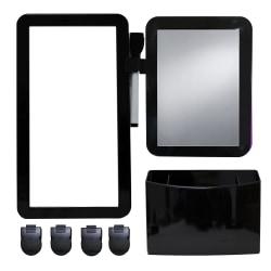 Inkology 8-Piece Magnetic Locker Set, Black