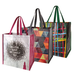 "Office Depot® Brand Reusable Polypropylene Shopping Bag, 13 1/2""H x 15""W x 9 1/4""D, Assorted Colors"