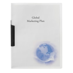 "GBC® Swing-Clip Report Cover, Globe Design, 8 1/2"" x 11"""