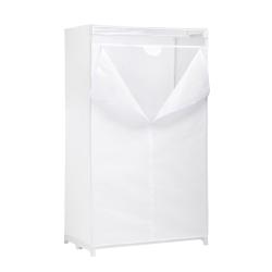 "Honey-can-do WRD-01271 36"" Cloth Wardrobe - 36"" x 19.7"" x 63"" - Heavy Duty, Breathable, Lightweight, Zippered, Environmentally Friendly, Sturdy, Rust Resistant - White - Cloth, Steel, Fabric"