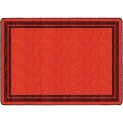 "Flagship Carpets Double-Border Rectangular Rug, 72"" x 100"", Red"