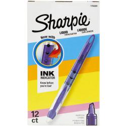Sharpie® Liquid Accent® Pen-Style Highlighters, Fluorescent Purple, Box Of 12