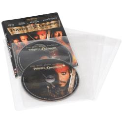Atlantic CD/DVD Sleeves, Clear, Pack Of 25