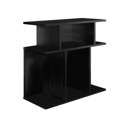 Monarch Specialties Accent Table With Open Shelves, Rectangular, Black
