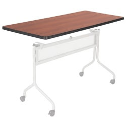 """Safco® Impromptu™ Mobile Training Table Top, Rectangular, 48""""W x 24""""D, Cherry (Base Sold Separately)"""