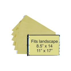 """Stride® 80% Recycled Tab Dividers For Ledger And Spreadsheet Binders, 11"""" x 17"""", Ledger Size, Beige/Clear, Pack Of 5 Tabs"""