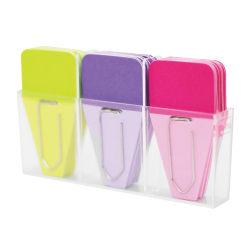 "Clip-rite™ Clip-Tabs, 1 1/4"", Fuchsia/Lime/Purple, 24 Clip-Tabs Per Pack, Set Of 6"