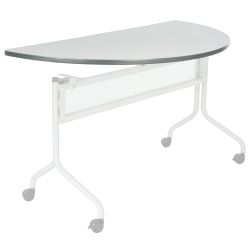 """Safco® Impromptu™ Mobile Training Table Top, Half-Round, 48""""W x 24""""D, Gray (Base Sold Separately)"""
